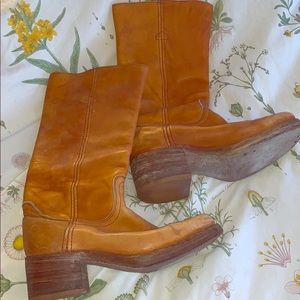 '70s Frye Campus Boots Tall Riding Boots (Size 7)